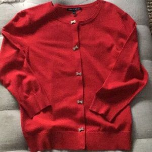 Cable and Gauge Red Cardigan Size L